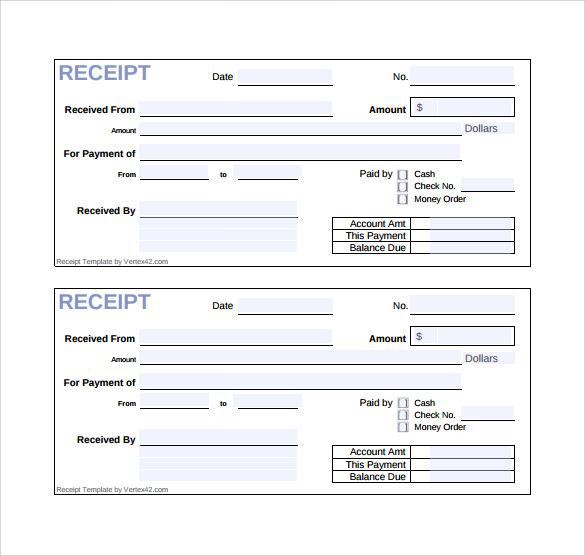 cash receipt template doc - 28 images - cash receipt template doc
