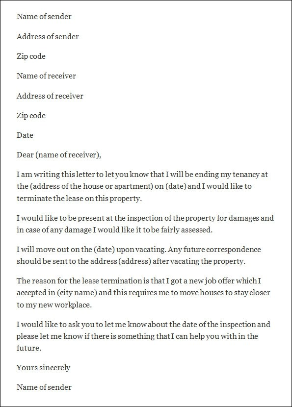 Landlord Notice Of Termination Of Lease Landlord Notice Of