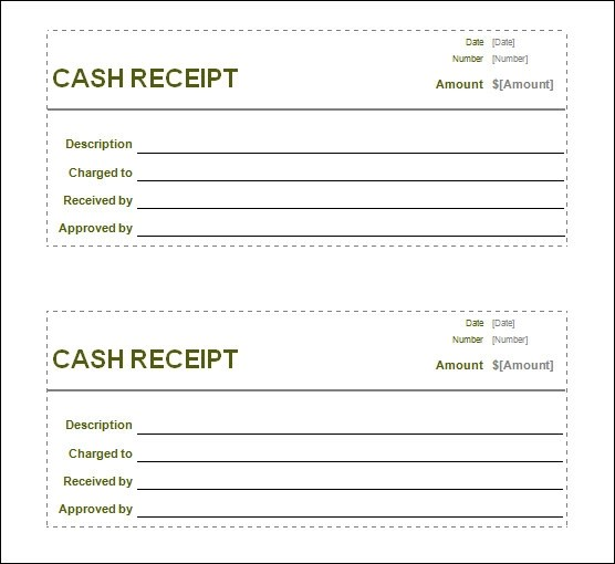 Receipt Template - cash invoice template