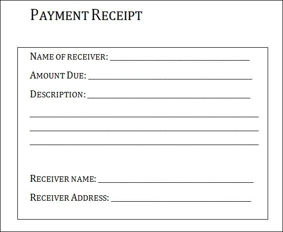 or receipt sample - Boatjeremyeaton - Payment Receipt Letter