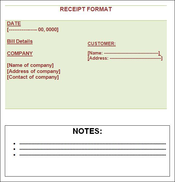 13+ Blank Receipt Template Sample Templates - Blank Receipt