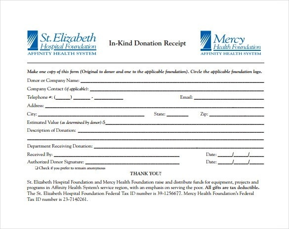23+ Donation Receipt Templates - PDF, Word, Excel, Pages