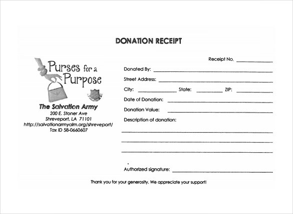 Sample Donation Receipt Template - 23+ Free Documents in PDF, Word - free receipt book