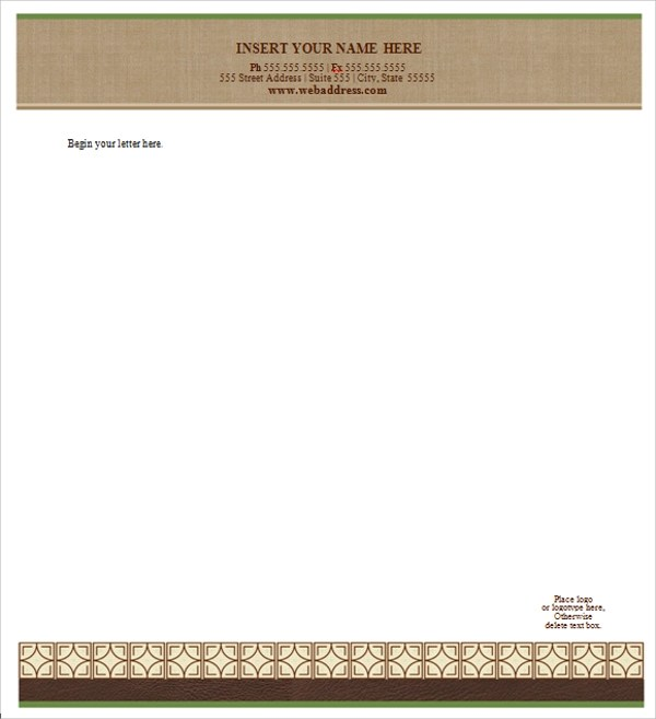 Sample Letterhead Template - 42+ Free Documents in PDF, PSD, Word - free letterhead templates for word