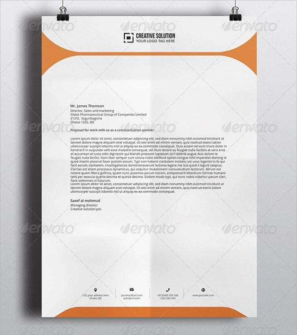 42 Company Letterhead Templates Sample Templates - Free Letterhead Samples