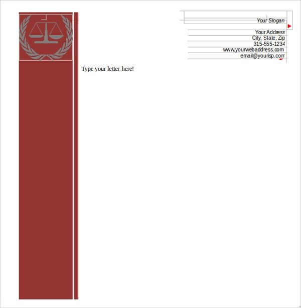 making a letterhead template in word
