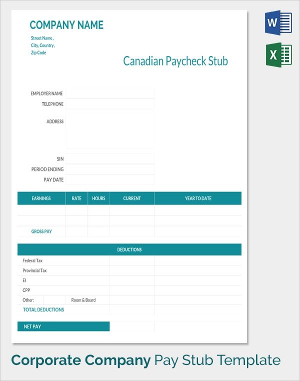 free payroll check stub template