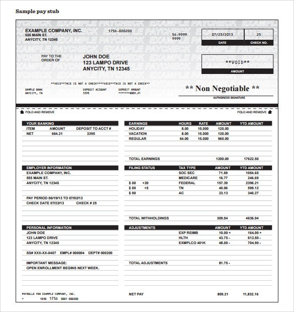 pictures adp pay stub template adp pay stub template sample how to - paycheck stub creator free