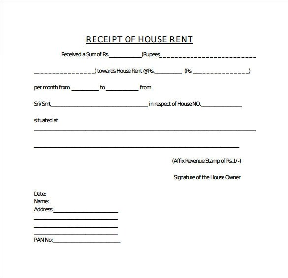 format of house rent receipt - 28 images - house rent receipt format - home rental receipt