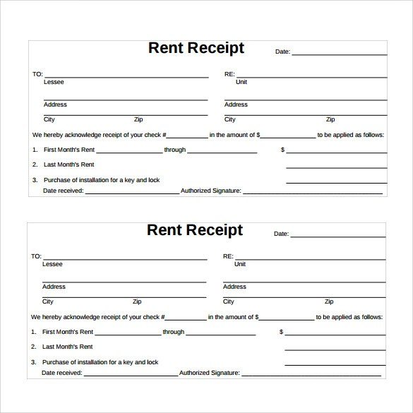 receipt rent - Idealvistalist - printable rent receipts