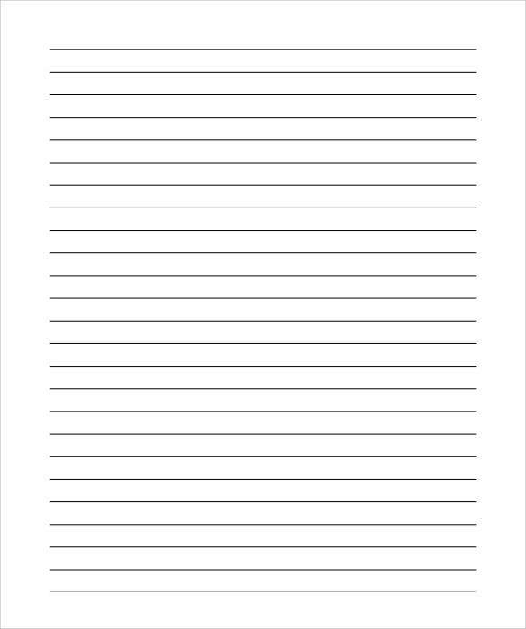 Word Document Notebook Paper – Notebook Paper Template for Word