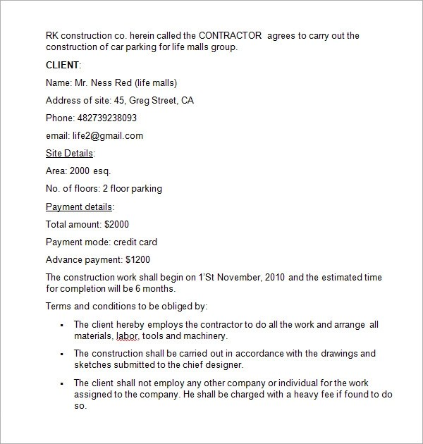 Sample Contract Agreement For Consulting Services | Create