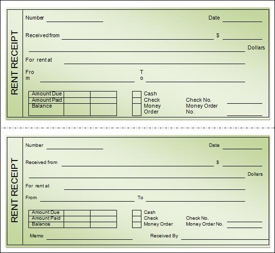 free printable blank receipts