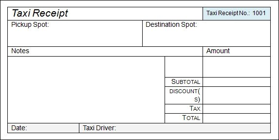 taxi invoice format india - Selol-ink