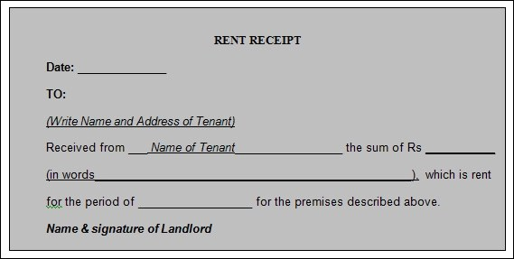 Sample Rent Receipt Template - 20+ Download Free Documents in PDF - rent receipt form