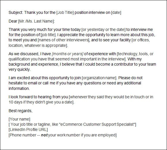 Follow Up Email After Phone Interview Sample – Follow Up Email After Interview