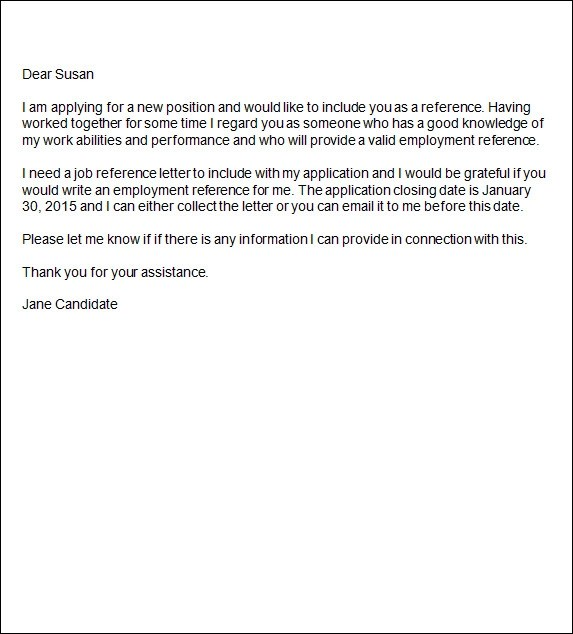 work letters of reference - Minimfagency - employment letter of reference