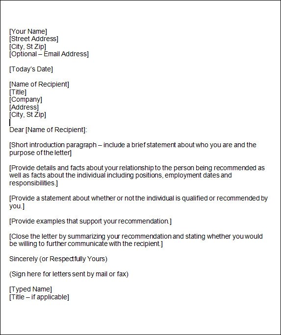 15+ Sample Reference Letters Sample Templates
