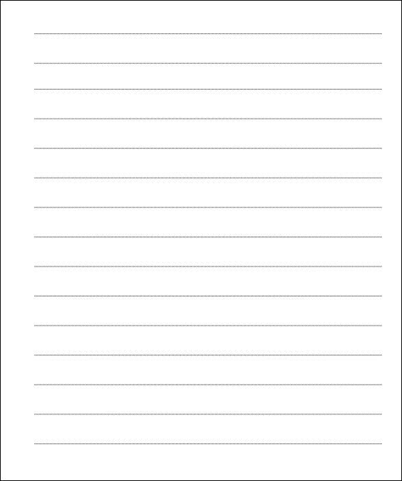 12+ Lined Paper Templates \u2013 PDF, DOC Sample Templates - lined letter paper