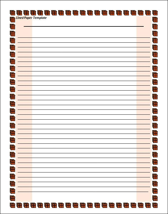 Lined Paper Template - 12+ Download Free Documents in PDF , Word - notebook paper download