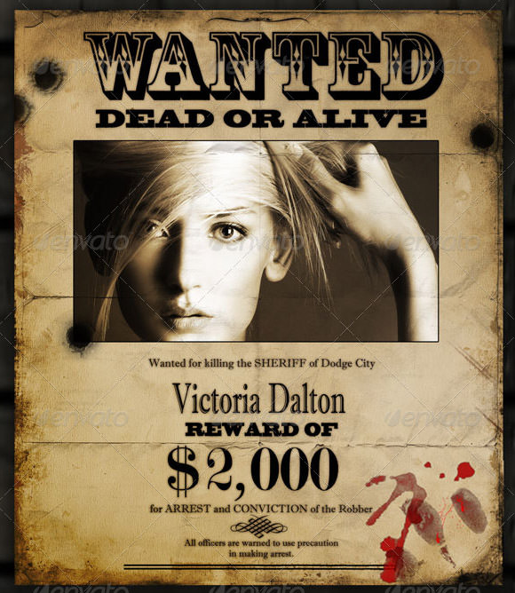 20 Free Wanted Poster Templates to Download Sample Templates - most wanted posters templates