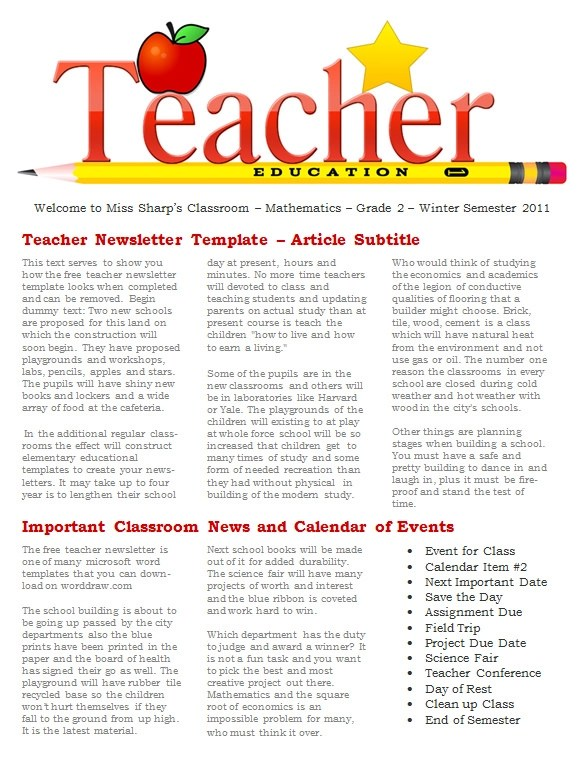Sample Newsletter Templates - 19+ Download Documents In PDF , WORD - news letter formats