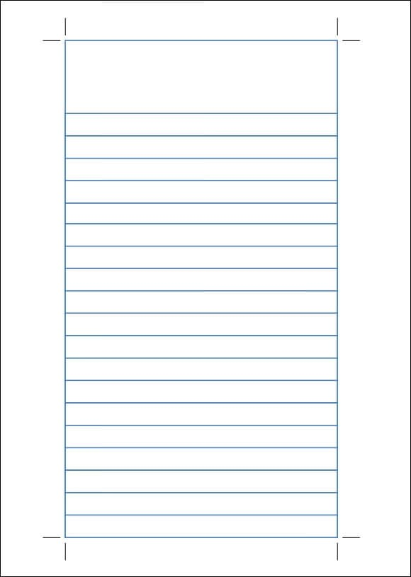 12+ Lined Paper Templates \u2013 PDF, DOC Sample Templates - lined paper template for word