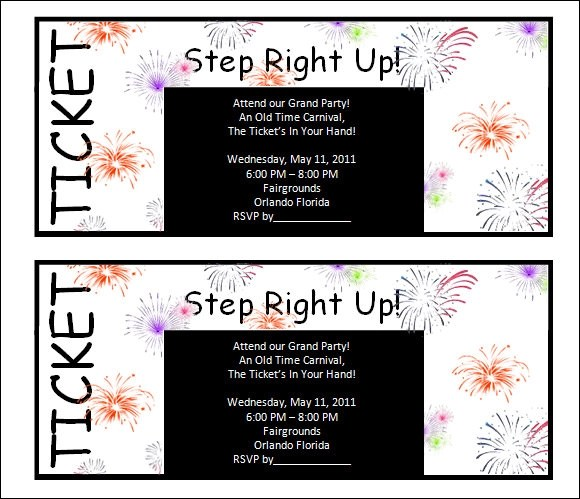 Ticket Template - 29+ Download Documents in PDF , PSD - party ticket template free