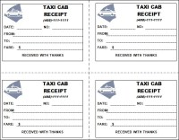 Taxi Receipt Template - 11+ Free Download for Word, PDF