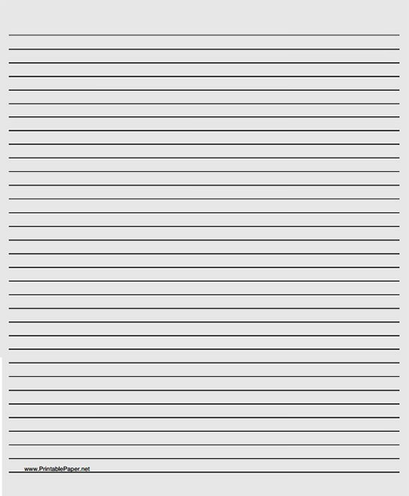 Printable Lined Paper Note Paper Lined Undated Perpetual - lined paper pdf