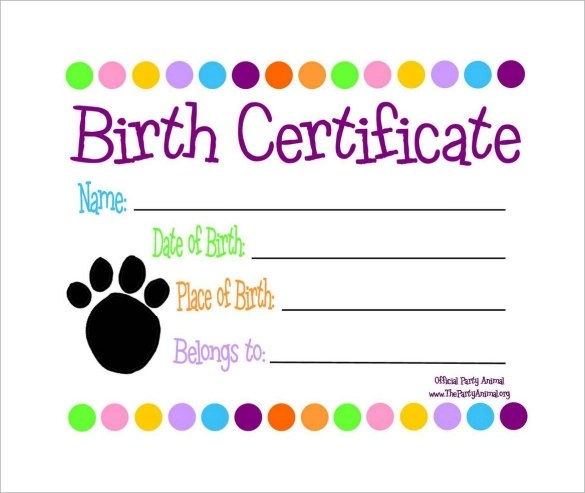 18 Birth Certificate Templates to Download Sample Templates - Birth Certificate Template