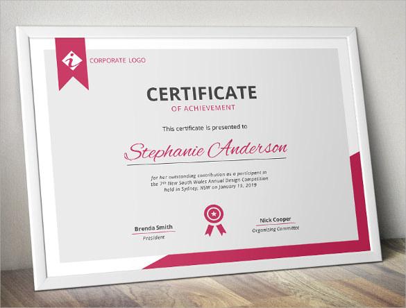 38 Best Certificate of Achievement Templates Sample Templates
