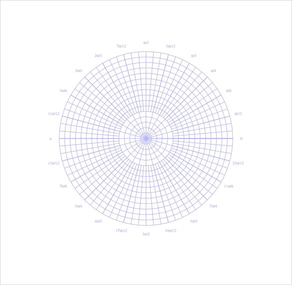 14 Printable Polar Graph Paper to Download for Free Sample Templates