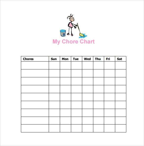 chore chart template free download - Amitdhull - sample chore chart