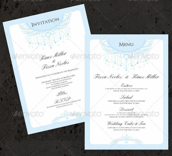 Top Result 60 Best Of Wedding Menu Samples Templates Photography