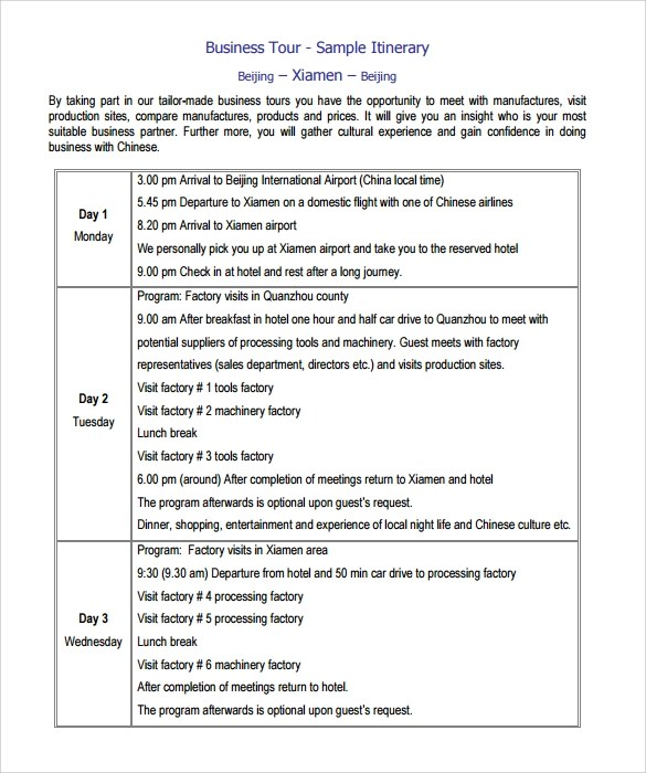 Church Sample Business Plan Free Church Forms Find Sample Itinerary Template 9 Free Documents In Pdf