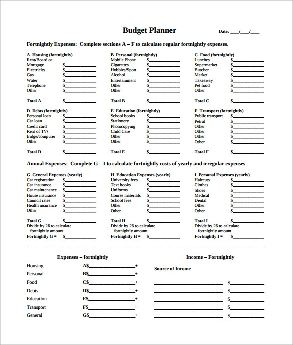 12+ Budget Samples Sample Templates - child care budget template
