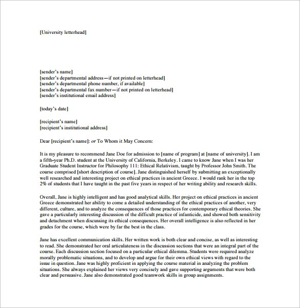 21+ Sample Personal Letters of Recommendation \u2013 PDF, DOC Sample