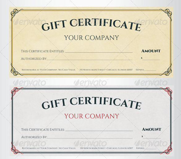 56+ Gift Certificate Templates Sample Templates