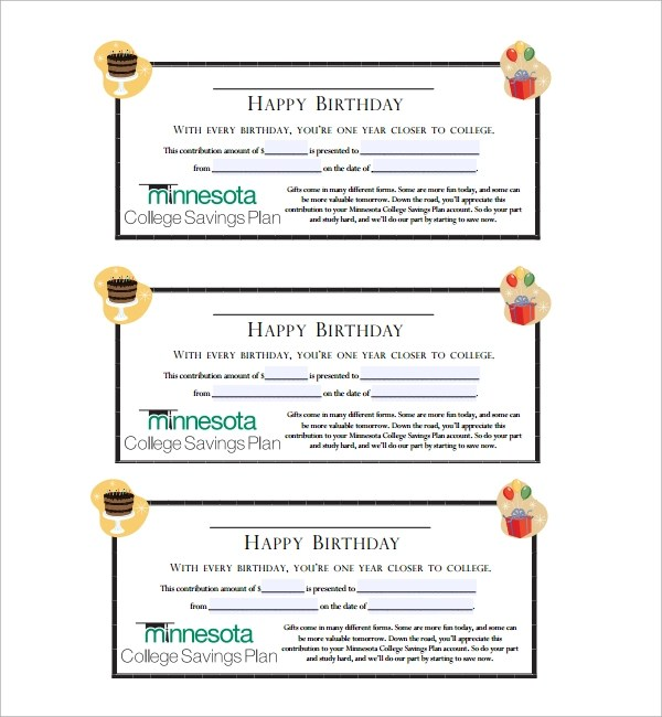 56+ Gift Certificate Templates Sample Templates - sample birthday gift certificate template