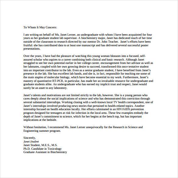 Reference Letter Sample Reference Letter Format Sample Personal Letter Of Recommendation 16 Download