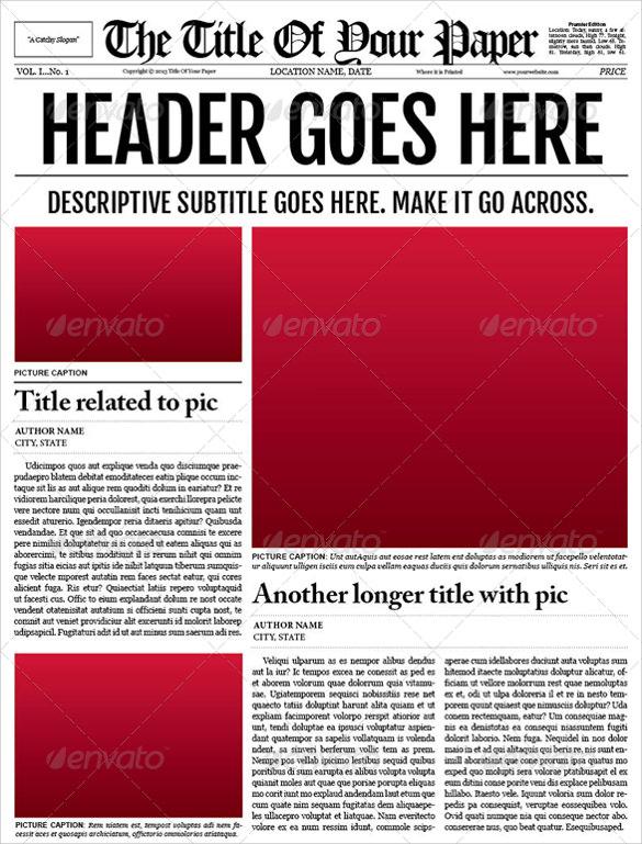 53+ Amazing Newspaper Templates - PDF, PPT, Word, PSD