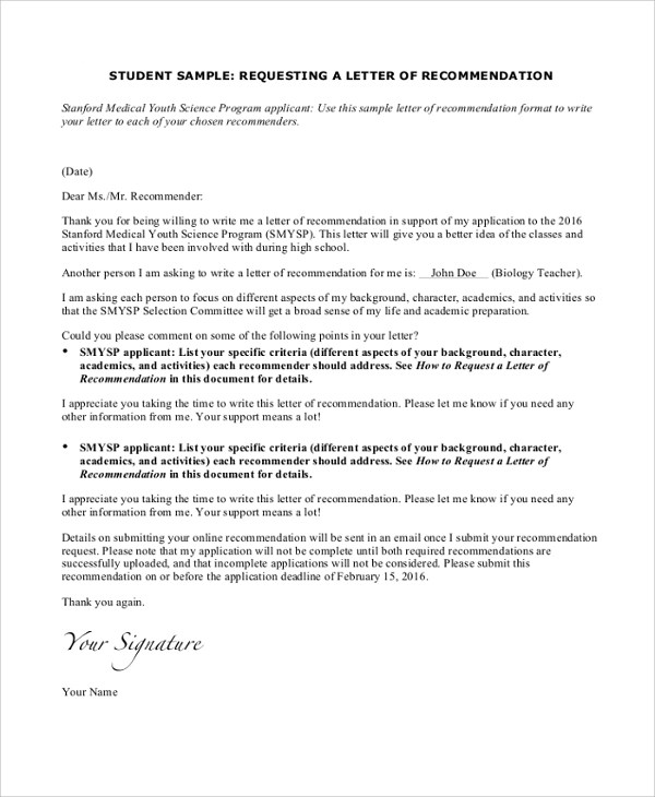 25+ Sample Personal Letters of Recommendation - PDF, DOC