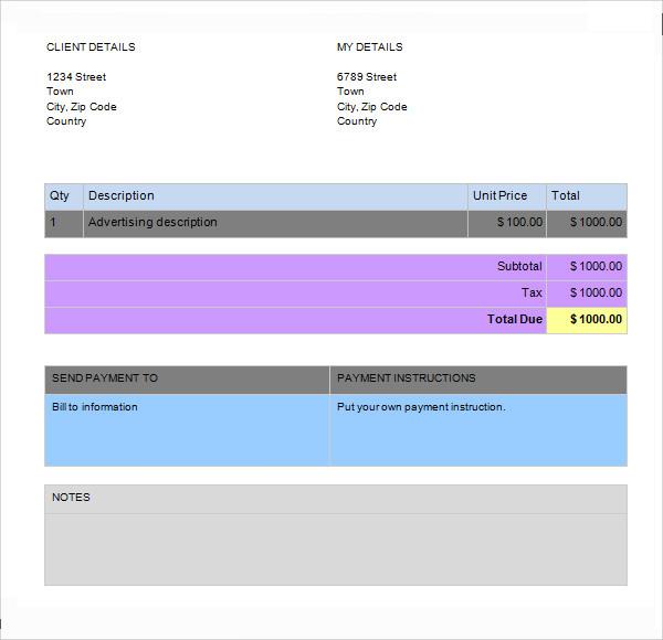 sample invoice xlsx | sample customer service resume, Invoice templates