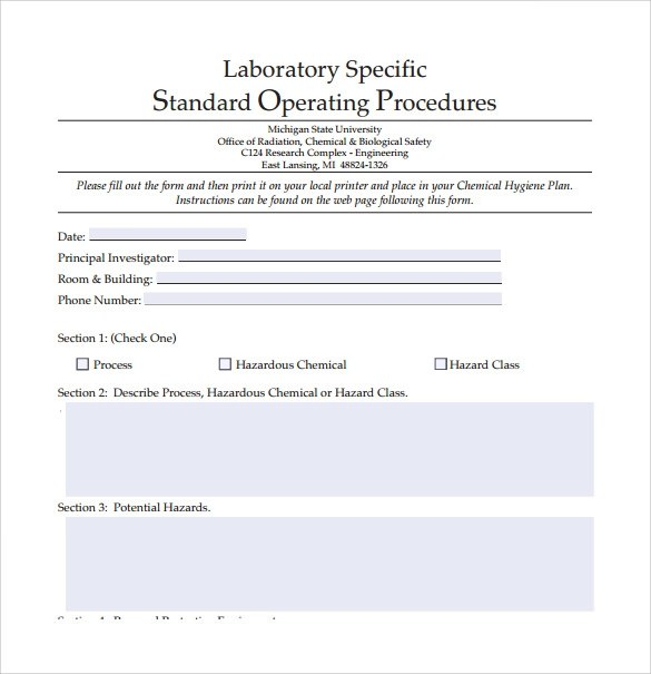 21+ Sample SOP Templates \u2013 PDF, DOC Sample Templates - How To Write A Standard Operating Procedure