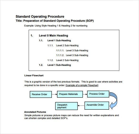 standard operating procedure template excel - shefftunes - How To Write A Standard Operating Procedure