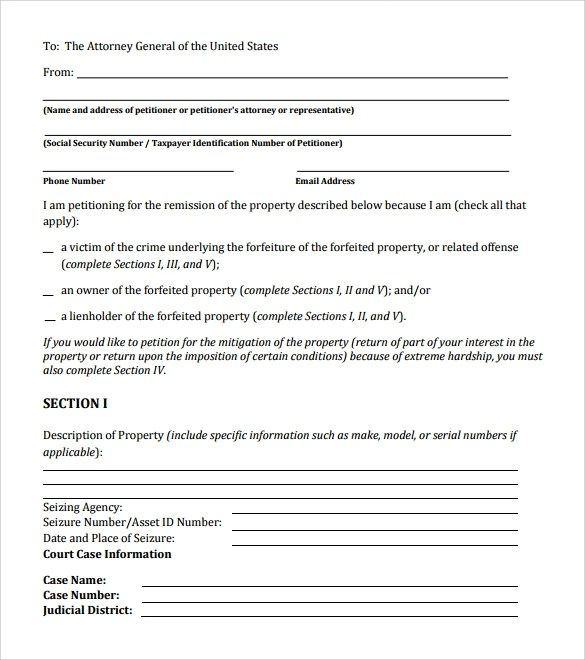 Neighborhood Petition - free petition templates examples