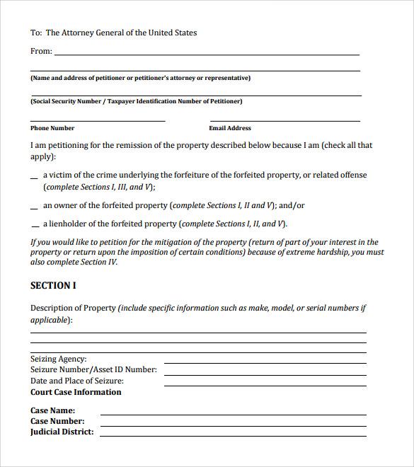 Neighborhood Petition
