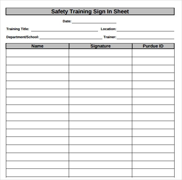34+ Sample Sign In Sheet Templates \u2013 PDF, Word, Apple Pages Sample