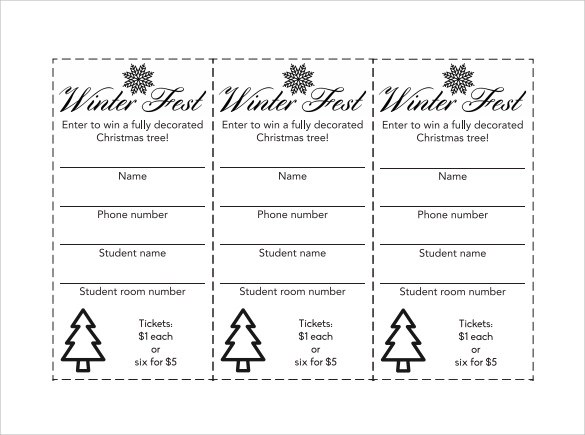 23+ Raffle Ticket Templates Sample Templates - free printable raffle tickets template